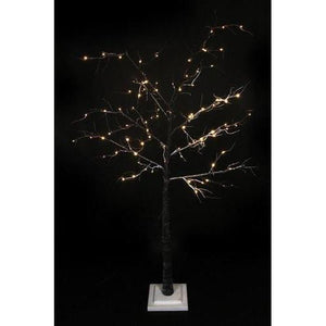 6' LED Lighted Flocked Christmas Twig Tree Outdoor Decoration - Warm Clear