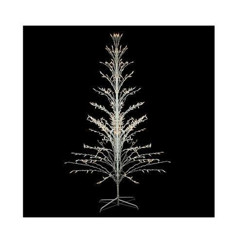 6' White Lighted Christmas Cascade Twig Tree Outdoor Decoration - Clear Lights