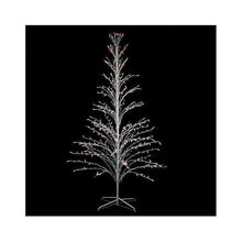 Load image into Gallery viewer, 6' White Lighted Christmas Cascade Twig Tree Outdoor Decoration - Multi Lights