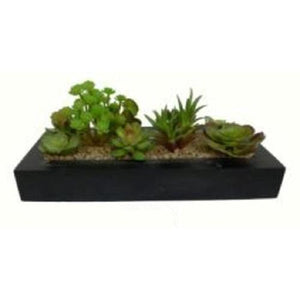 "14"" Artificial Succulent Plant Arrangement in Garden Box"