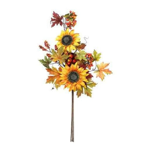 "30"" Artificial Fall Berry and Sunflower Bundle Spray"