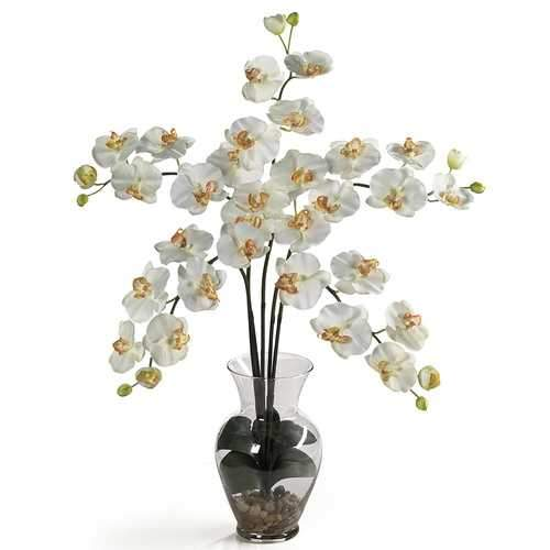 Phalaenopsis Liquid Illusion Silk Flower Arrangement