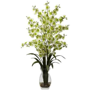 Dancing Lady Orchid w/Vase Arrangement Silk