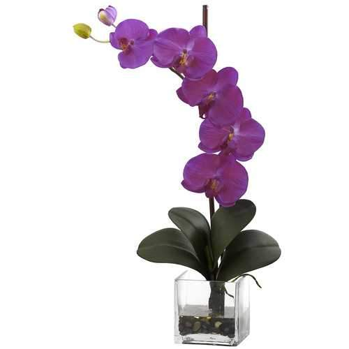 Giant Phal Orchid w/Vase Arrangement Silk