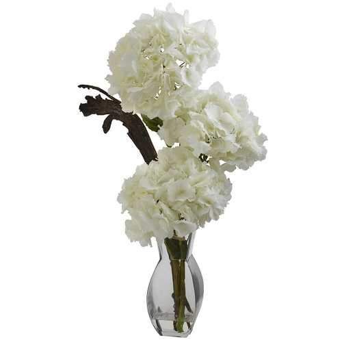 Triple Hydrangea w/Vase Silk Arrangement