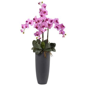 Phalaenopsis Orchid Arrangement with Bullet Planter Silk