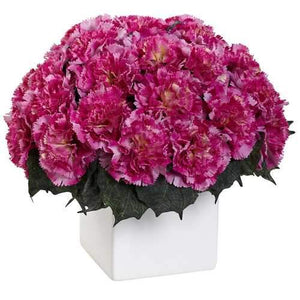 Carnation Arrangement w/Vase Silk