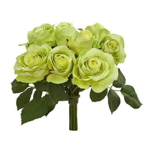 Rose Bush Artificial Flower (Set of 2) Silk Flowers