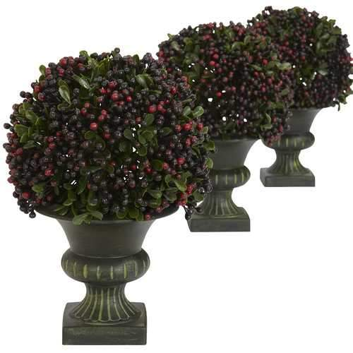 Pepper Berry Ball Topiary (Set of 3) Silk Plant