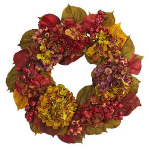 24 Fall Hydrangea Wreath Wreaths""