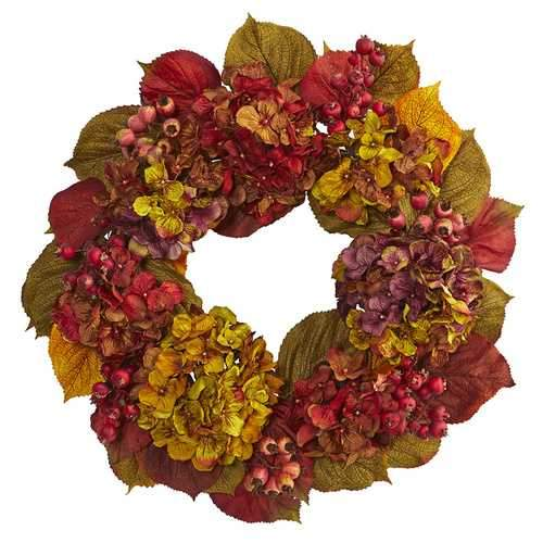 24 Fall Hydrangea Wreath Wreaths