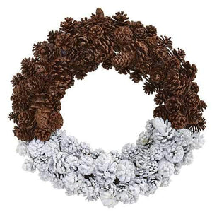 20 Frosted Pine Cone Wreath Wreaths""