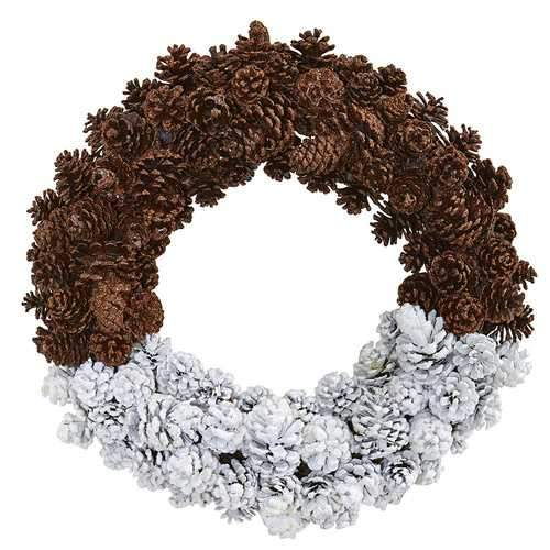 20 Frosted Pine Cone Wreath Wreaths