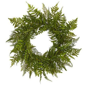 24 Mixed Fern Wreath Wreaths""