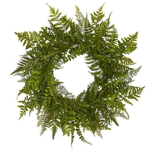 24 Mixed Fern Wreath Wreaths