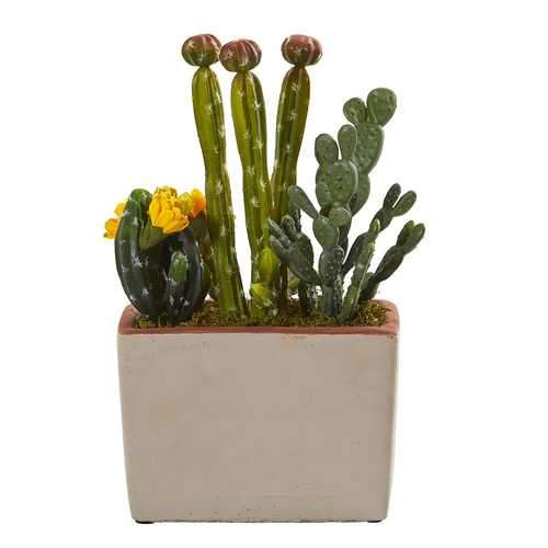 Mixed Cactus Artificial Plant with Decorative Planter Silk Plants