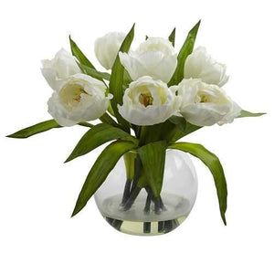 Tulips Arrangement w/Vase Silk