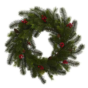 24 Pine and Berry Wreath Wreaths""