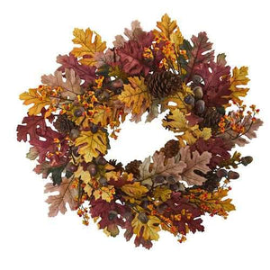 24 Oak Leaf, Acorn & Pine Wreath Wreaths""