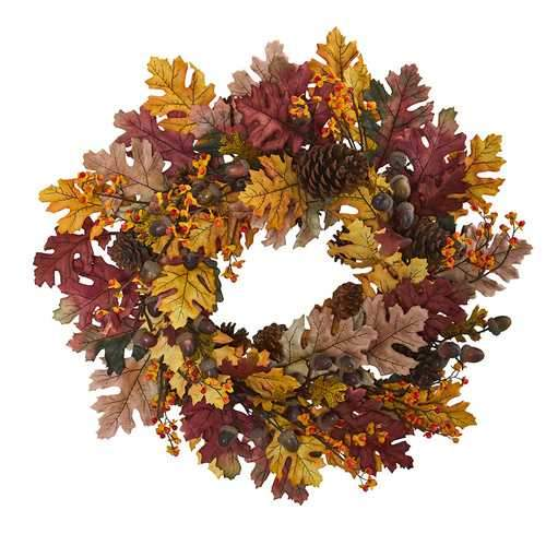 24 Oak Leaf, Acorn & Pine Wreath Wreaths