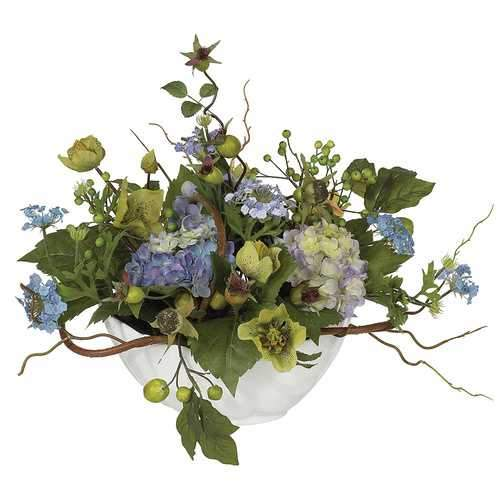 Hydrangea Centerpiece Silk Arrangement