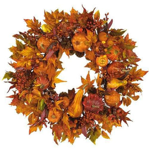 28 Harvest Wreath Seasonal - Silk""