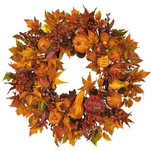 28 Harvest Wreath Seasonal - Silk