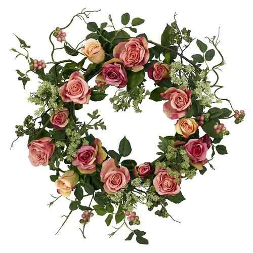 20 Rose Wreath Silk