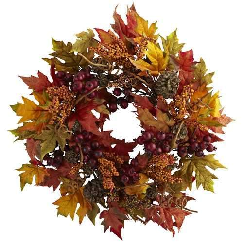 24 Maple and Berry Wreath
