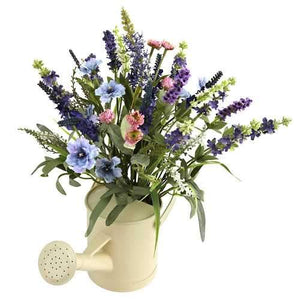 Lavender Arrangement w/Watering Can Silk