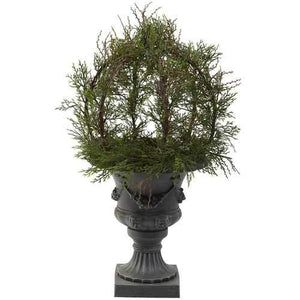 30 Pond Cypress Topiary w/Urn (Indoor/OutDoor) Silk Plant