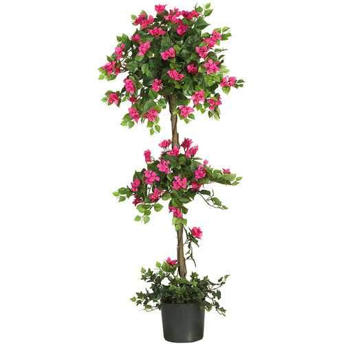 5' Mini Bougainvillea Topiary Silk Tree