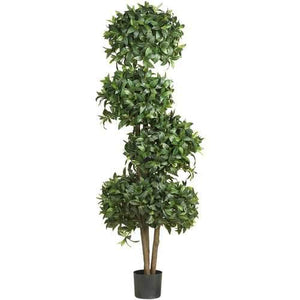69 Sweet Bay Topiary w/4 Balls Silk Tree""