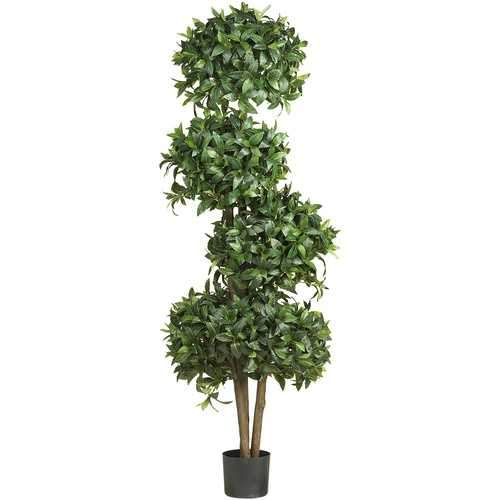 69 Sweet Bay Topiary w/4 Balls Silk Tree