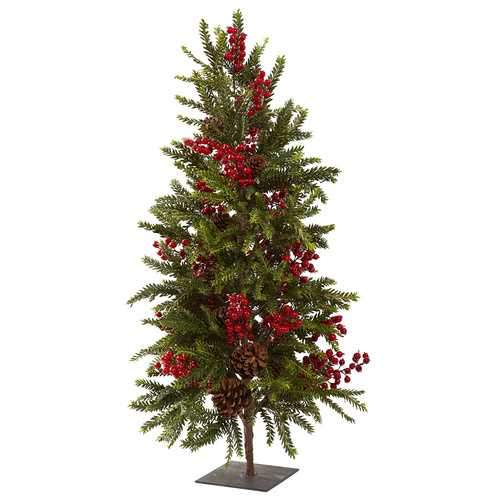36 Pine & Berry Christmas Tree Silk