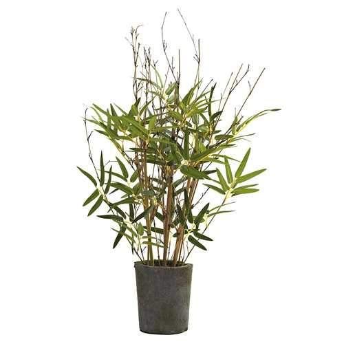 27 Bamboo Tree w/Cement Pot Silk