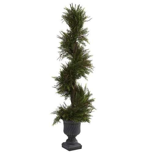 45 Mini Pine Spiral w/Urn (Indoor/Outdoor) Silk Tree