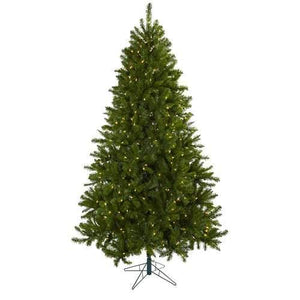 7.5 Windermere Christmas Tree w/Clear Lights Silk