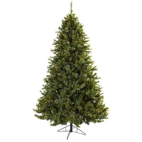 7.5' Majestic Multi-Pine Christmas Tree w/Clear Lights Silk