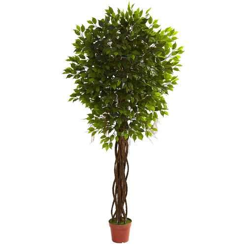 7.5' Ficus Tree UV Resistant (Indoor/Outdoor) Silk