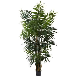 6 Bulb Areca Palm Tree Silk