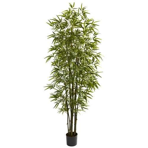 7 Green Bamboo Tree Silk