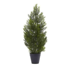 2 Mini Cedar Pine Tree (Indoor/Outdoor) Silk