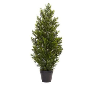 3 Mini Cedar Pine Tree (Indoor/Outdoor) Silk