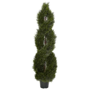 Pond Cypress Spiral Topiary UV Resistant (Indoor/Outdoor) Silk Tree