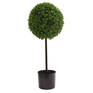 2.5' Boxwood Ball Artificial Topiary Tree UV Resistant (Indoor/Outdoor) Silk Trees
