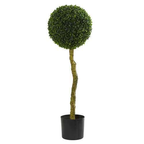 3.5' Boxwood Artificial Topiary Tree UV Resistant (Indoor/Outdoor) Silk Trees