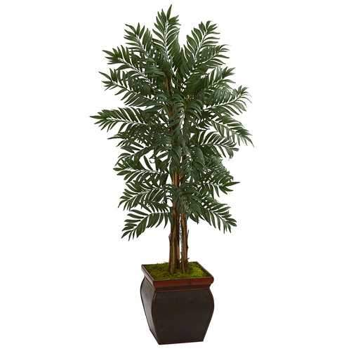 5 Parlor Palm Artificial Tree in Decorative Planter Silk Trees