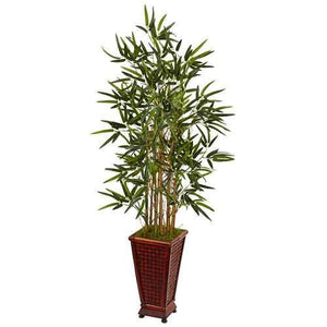 4.5 Bamboo Tree in Decorative Planter Silk