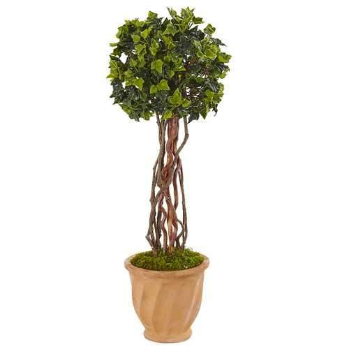 3 English Ivy Tree in Terracotta Planter UV Resistant (Indoor/Outdoor) Silk